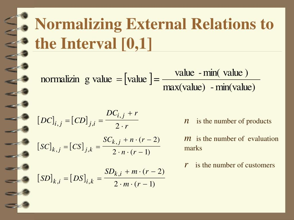 Normalizing External Relations to the Interval [0,1]