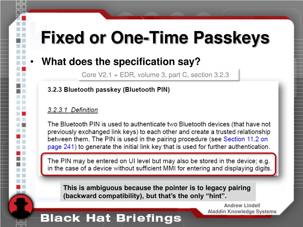 Fixed or One-Time Passkeys