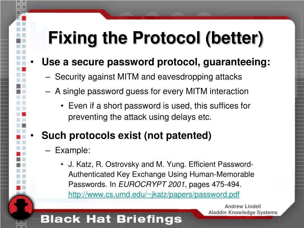Fixing the Protocol (better)