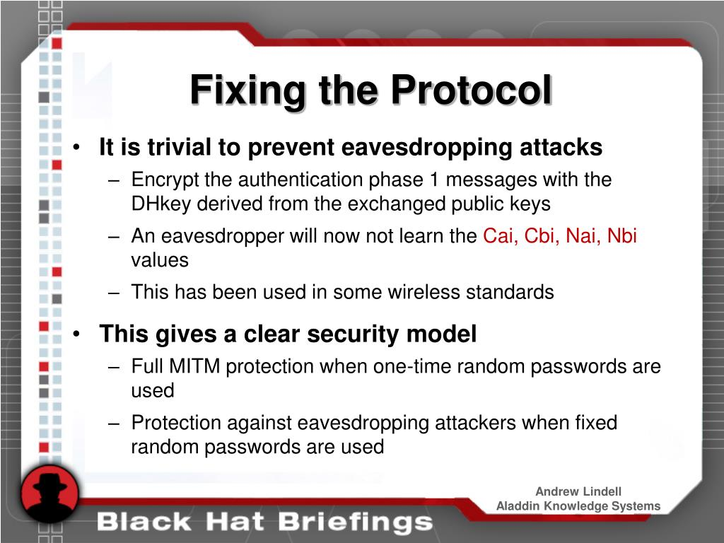 Fixing the Protocol