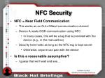 nfc security