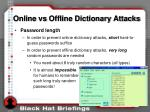 online vs offline dictionary attacks7