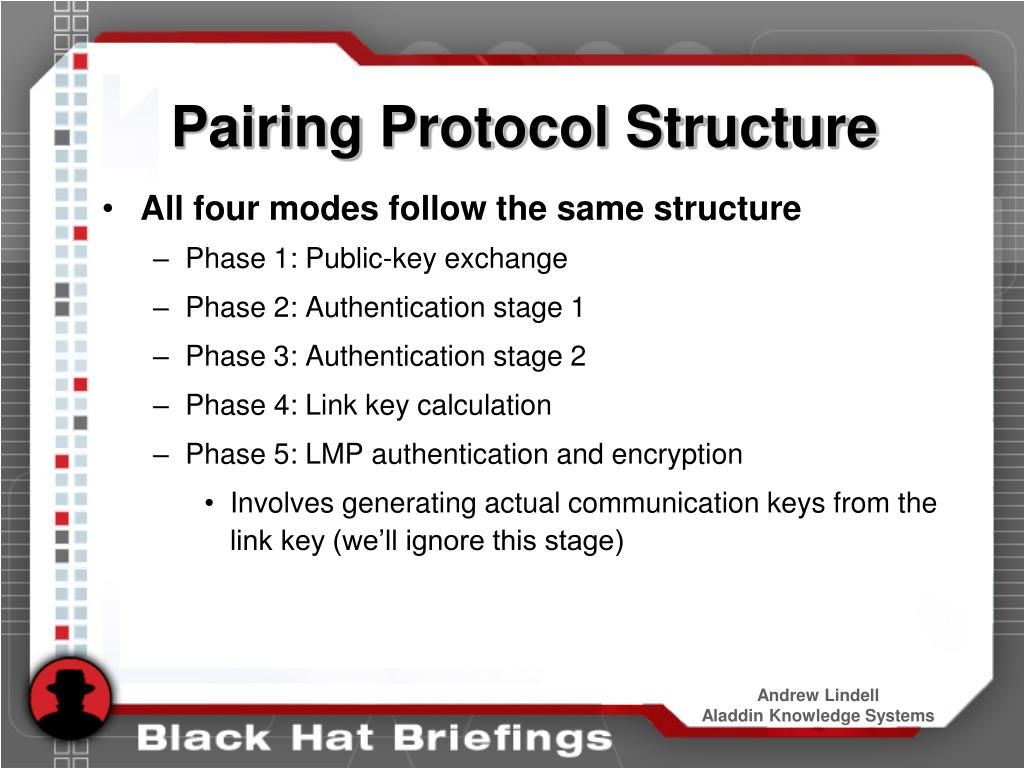 Pairing Protocol Structure