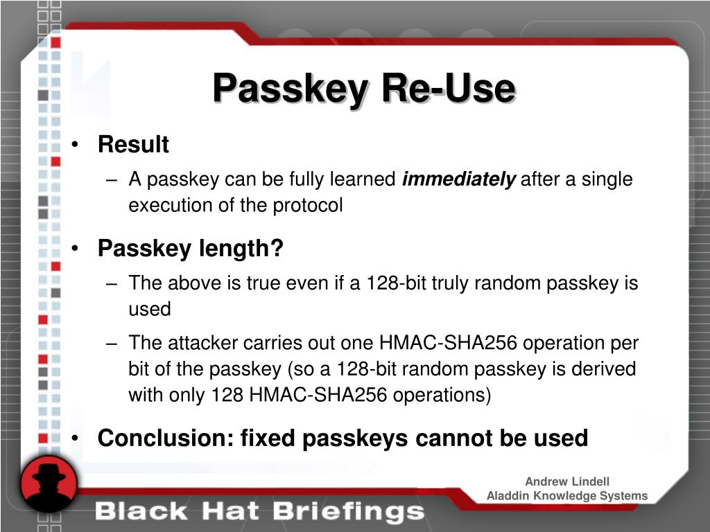 Passkey Re-Use
