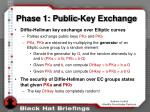 phase 1 public key exchange