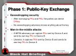 phase 1 public key exchange18