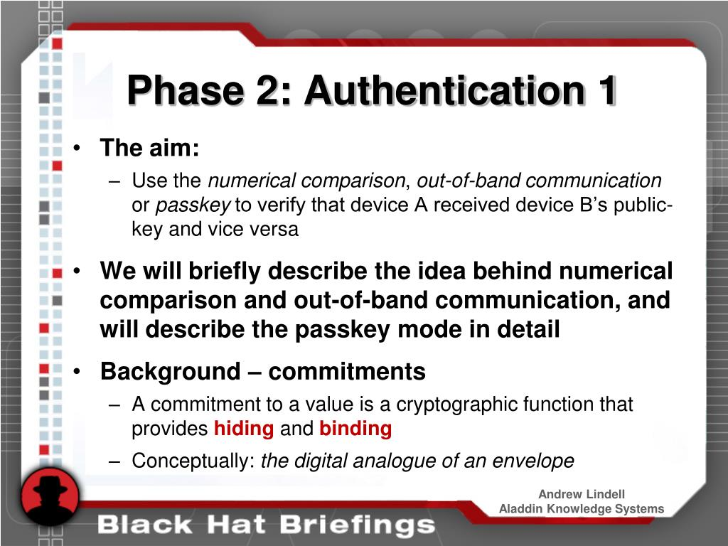 Phase 2: Authentication 1