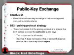public key exchange