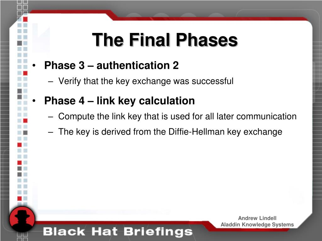 The Final Phases