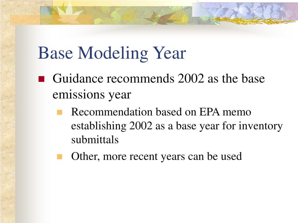 Base Modeling Year