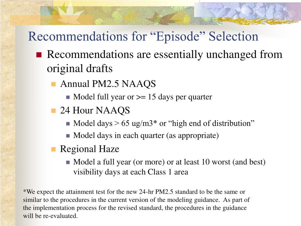 """Recommendations for """"Episode"""" Selection"""