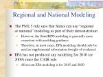 regional and national modeling