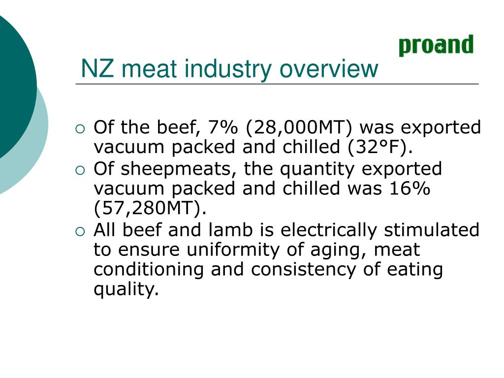 NZ meat industry overview