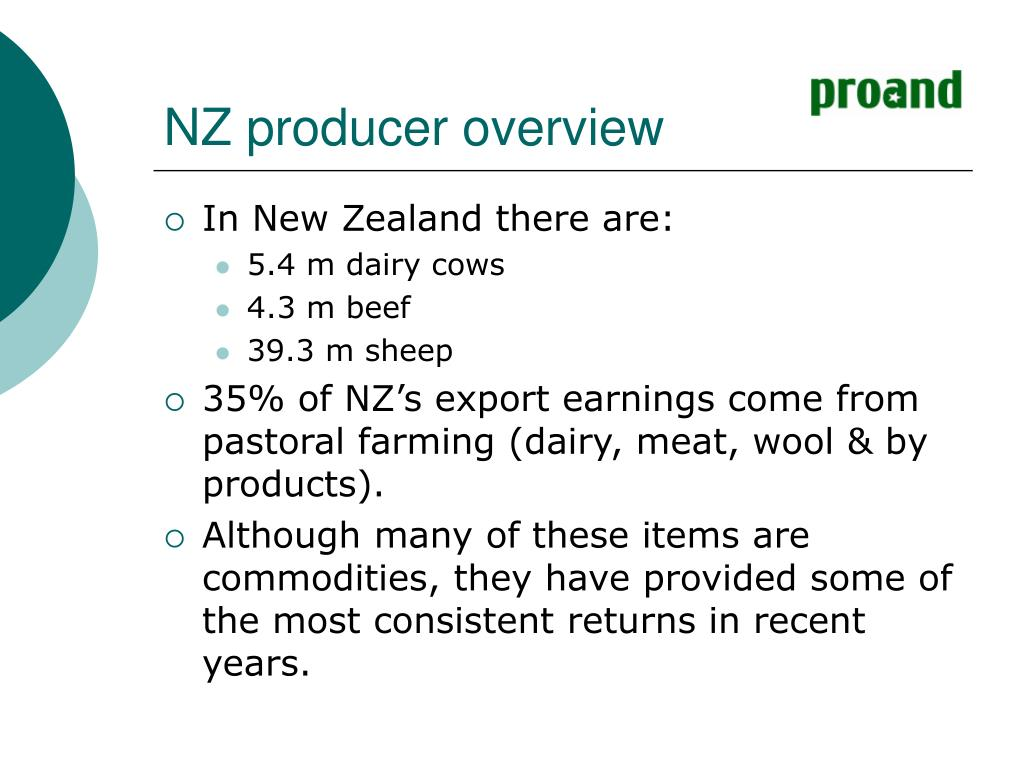 NZ producer overview