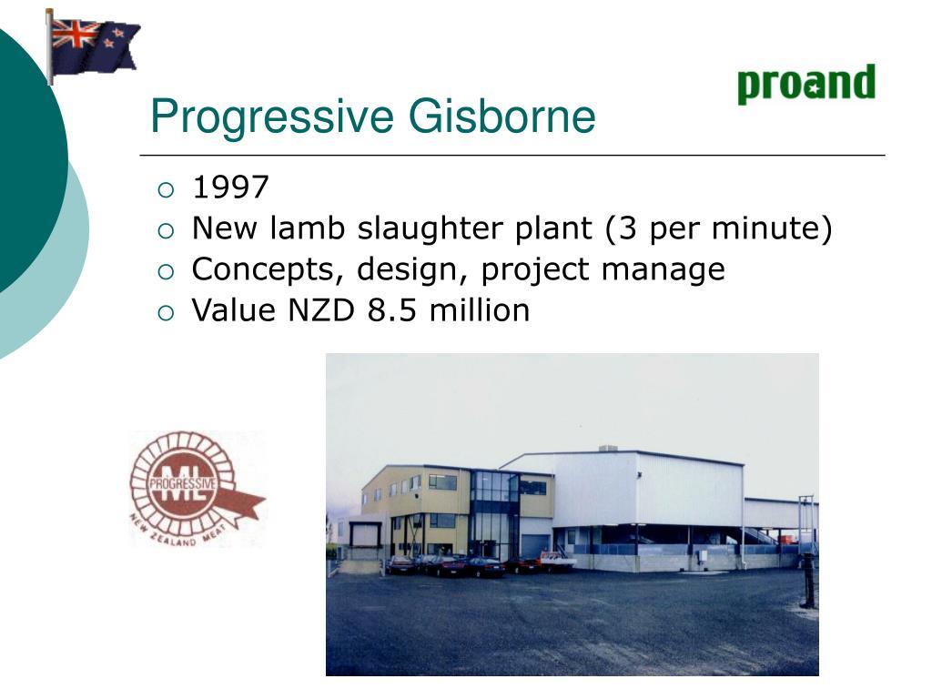 Progressive Gisborne