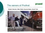 the owners of proand