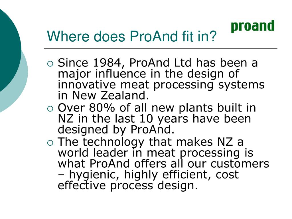 Where does ProAnd fit in?