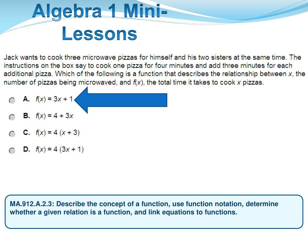 Algebra 1 Mini-Lessons