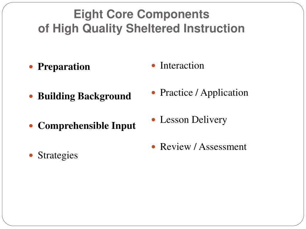 Eight Core Components