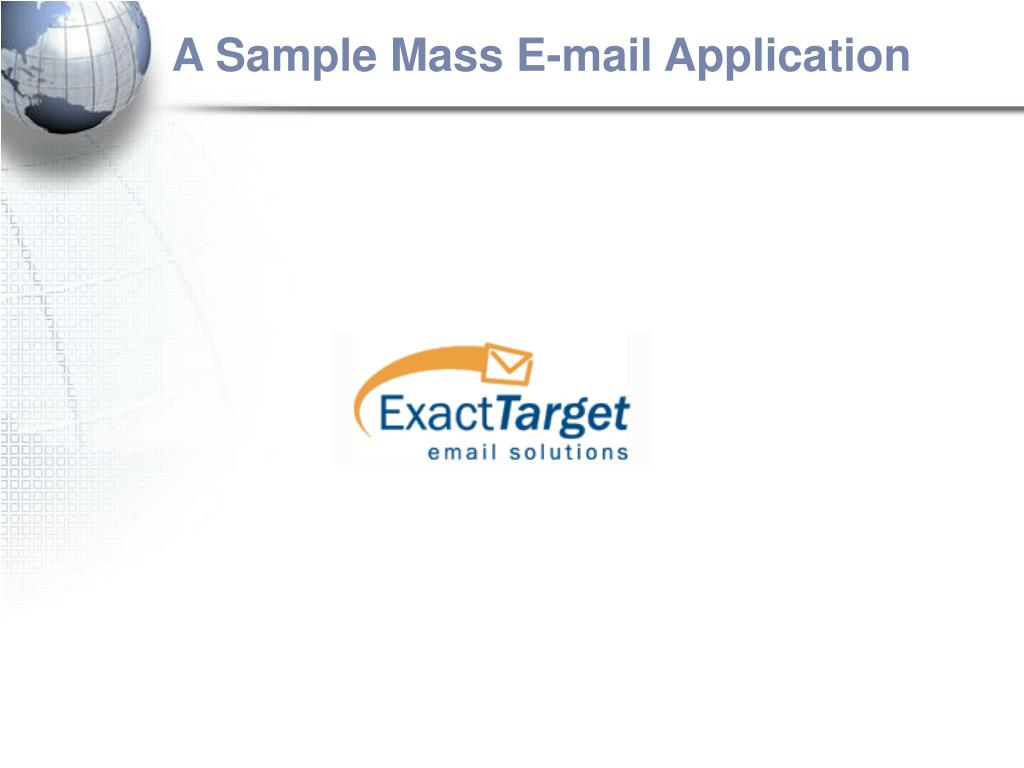 A Sample Mass E-mail Application