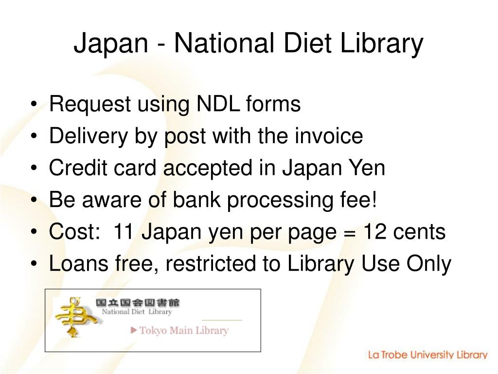 Japan - National Diet Library