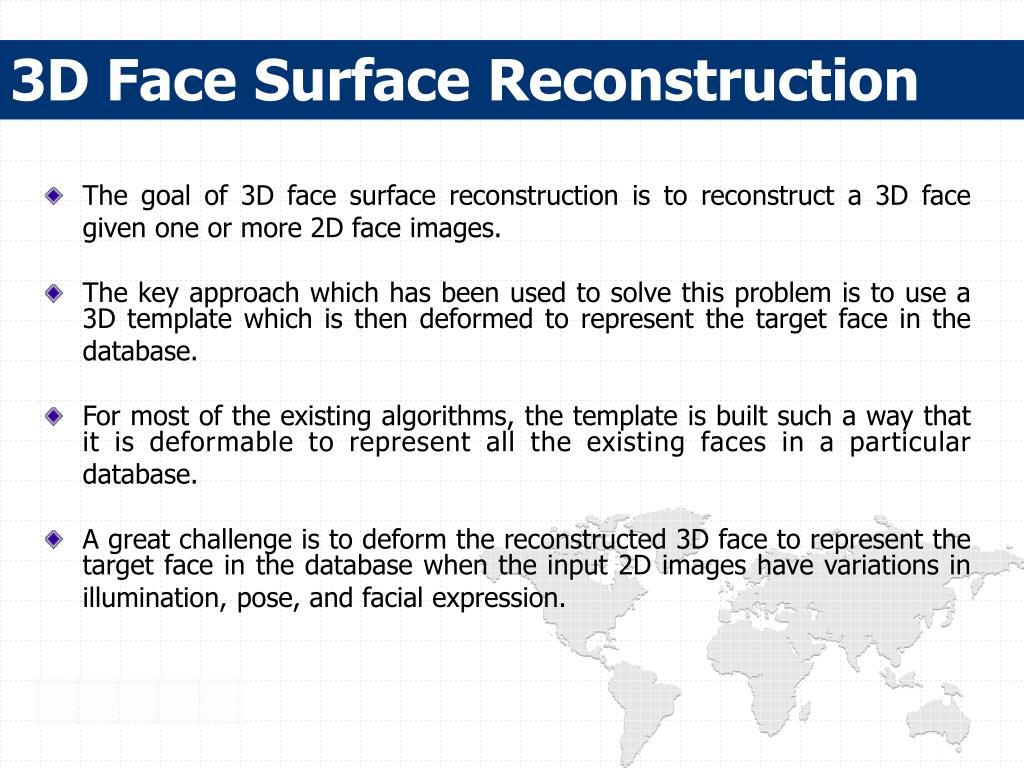 3D Face Surface Reconstruction