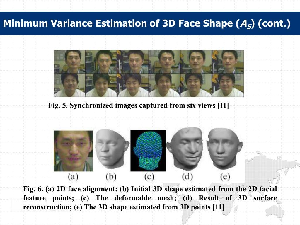 Minimum Variance Estimation of 3D Face Shape (