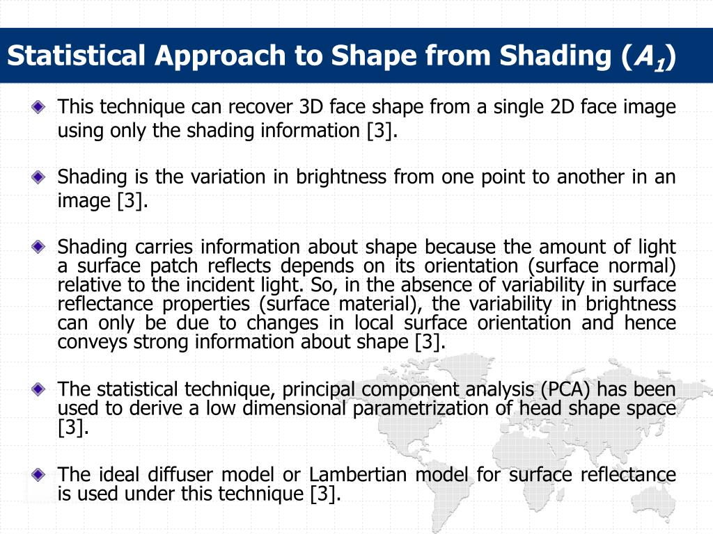 Statistical Approach to Shape from Shading (