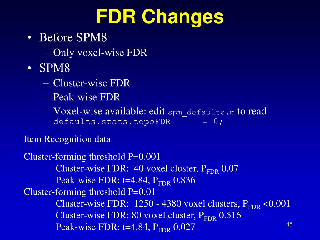 FDR Changes