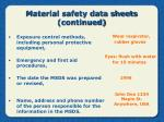 material safety data sheets continued20