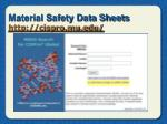 material safety data sheets http cispro mu edu