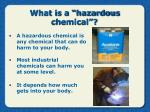 what is a hazardous chemical