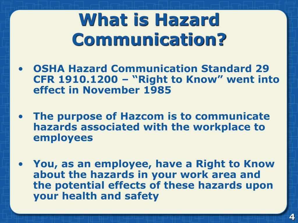 What is Hazard Communication?
