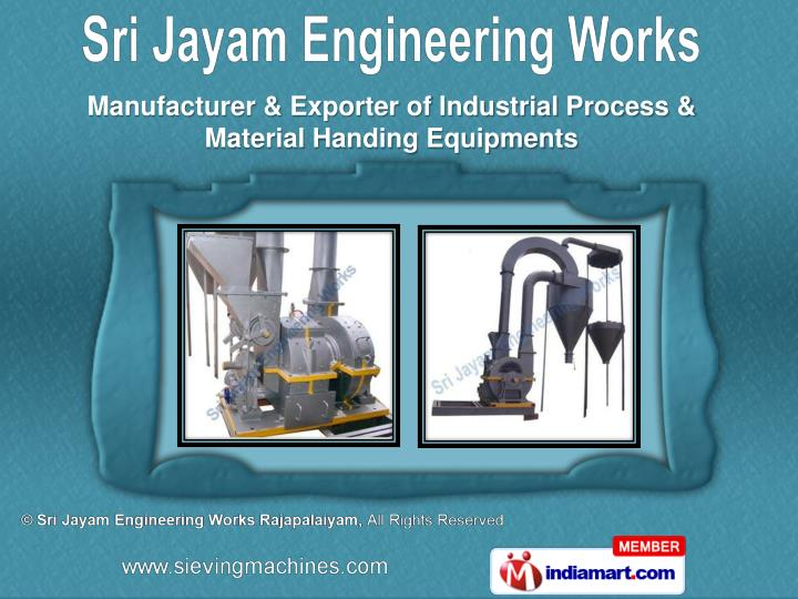 Manufacturer & Exporter of Industrial Process &