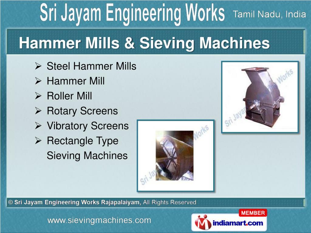 Hammer Mills & Sieving Machines