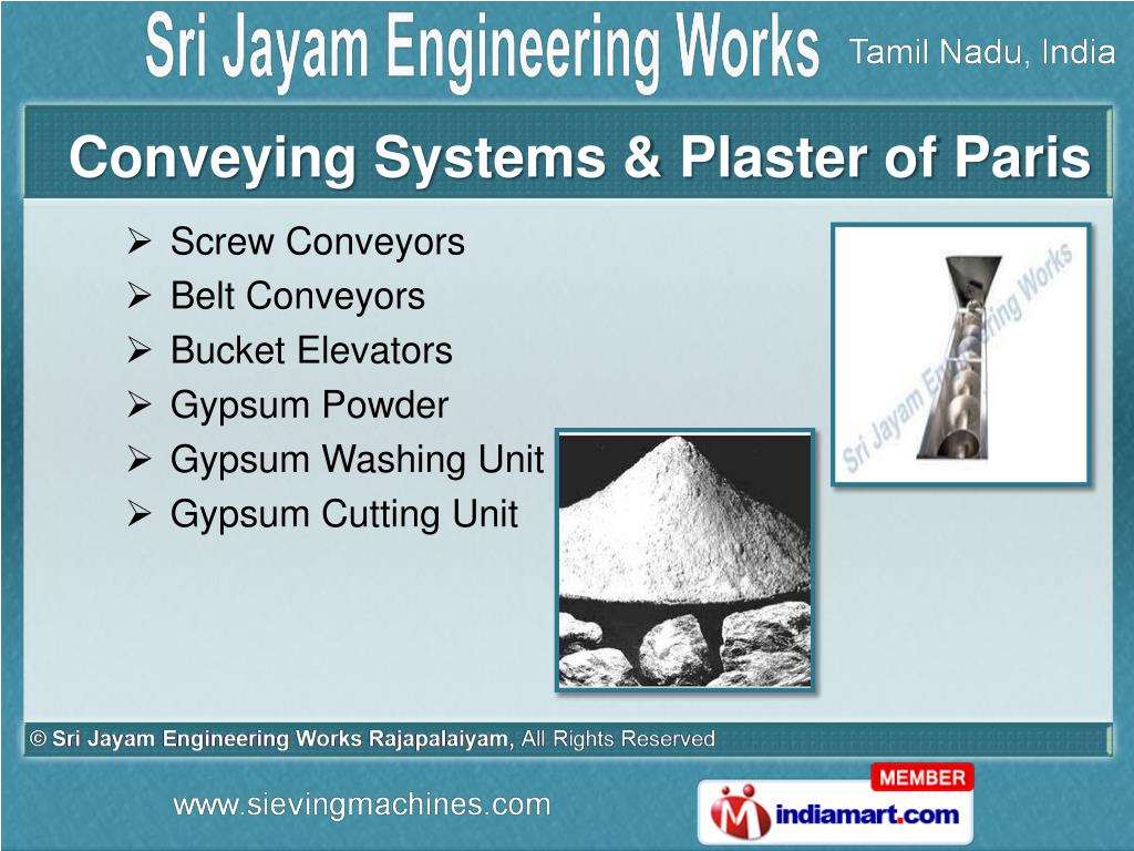 Conveying Systems & Plaster of Paris