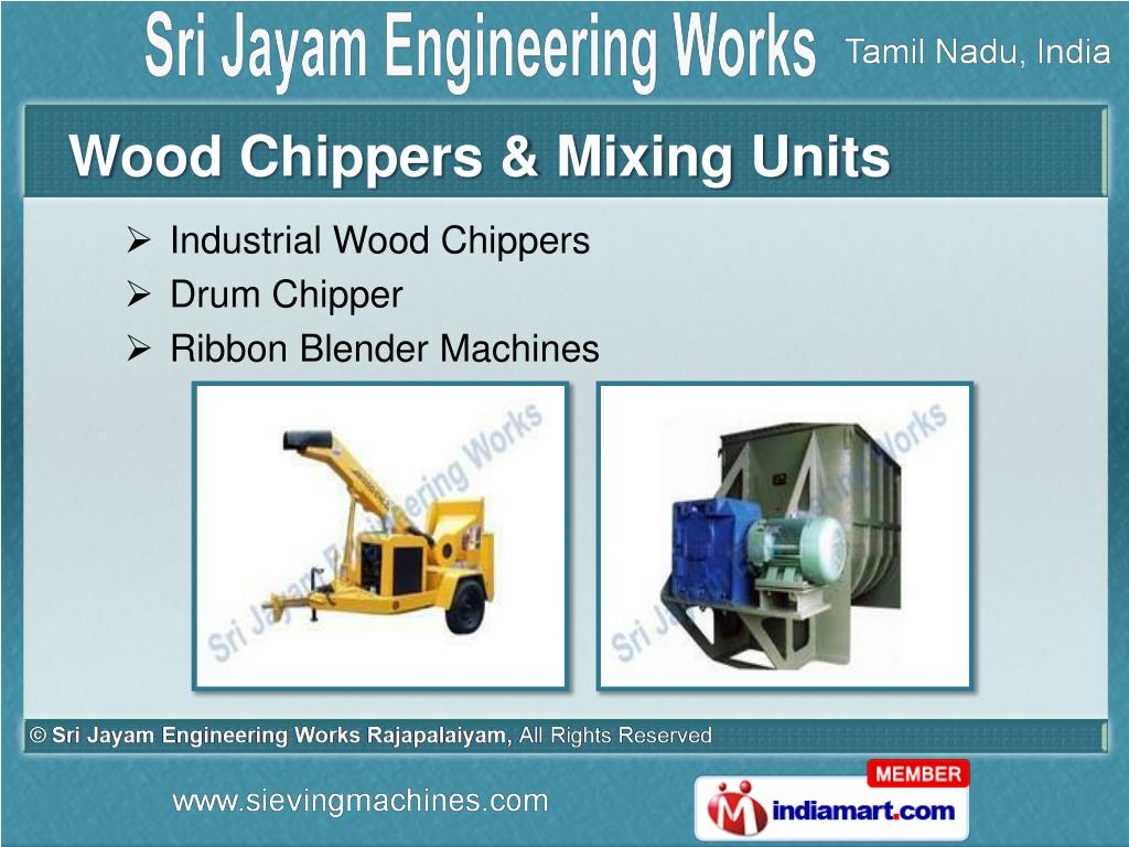 Wood Chippers & Mixing Units