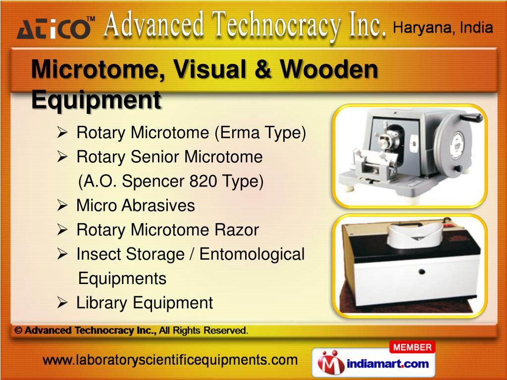 Microtome, Visual & Wooden