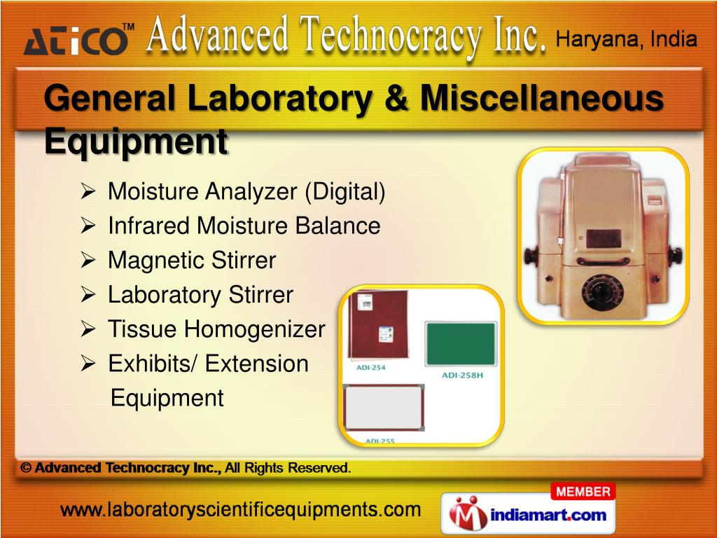 General Laboratory & Miscellaneous Equipment