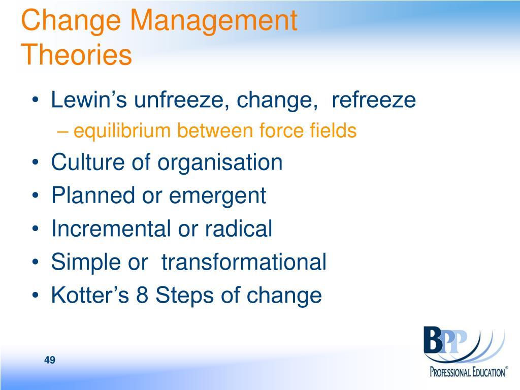 Change Management Theories
