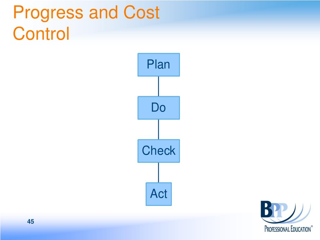 Progress and Cost Control