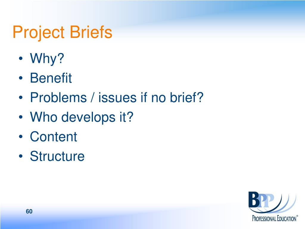 Project Briefs