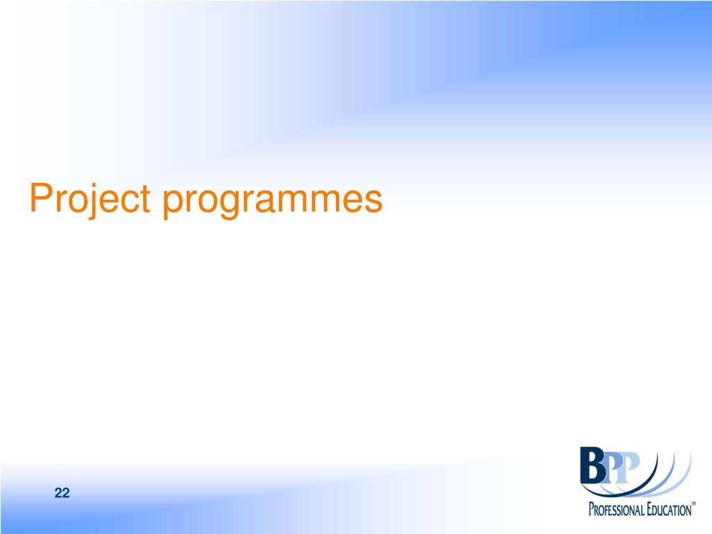 Project programmes