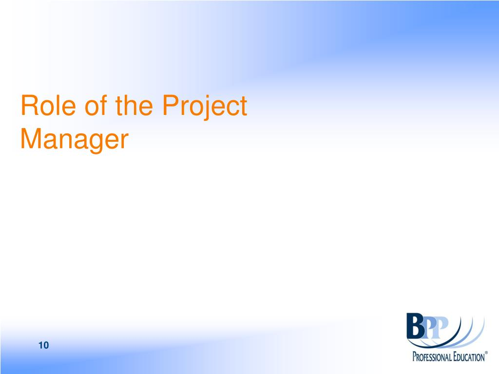 Role of the Project Manager