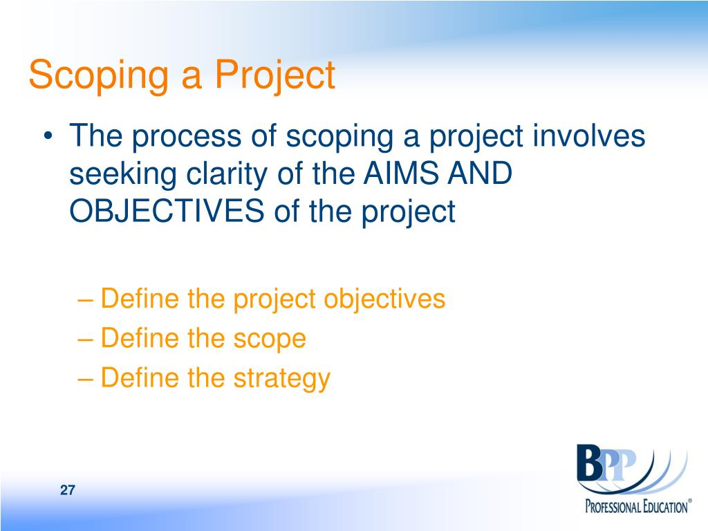 Scoping a Project