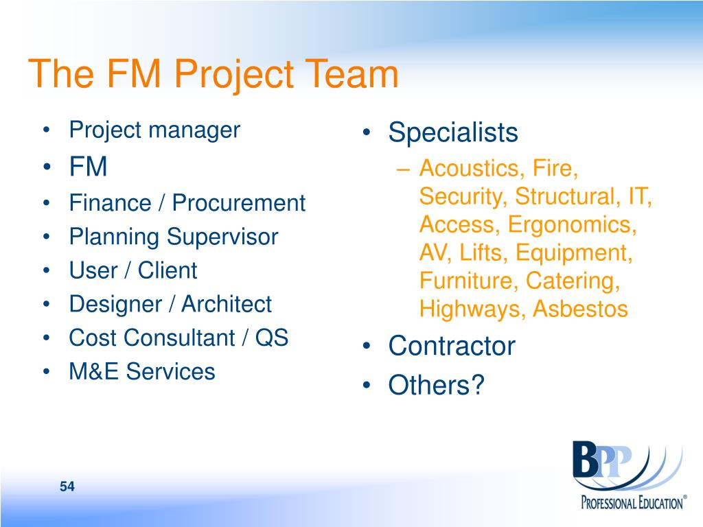 The FM Project Team