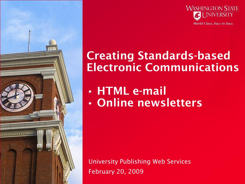 Creating Standards-based Electronic Communications
