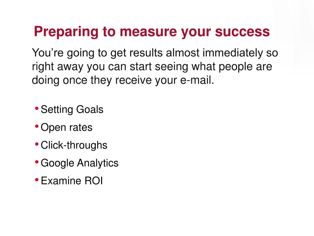 Preparing to measure your success