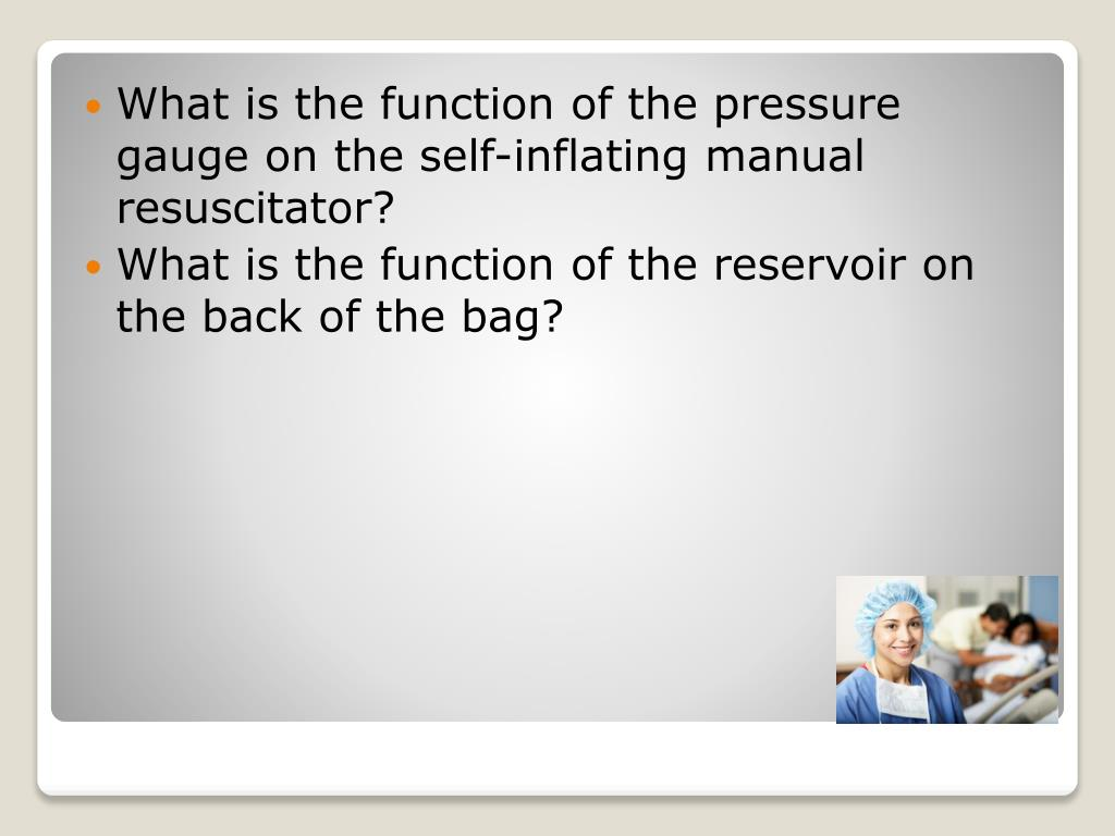 What is the function of the pressure gauge on the self-inflating manual resuscitator?