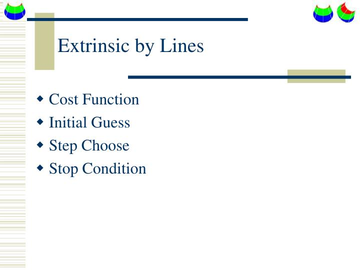 Extrinsic by Lines